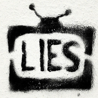 #television #lies #graffiti