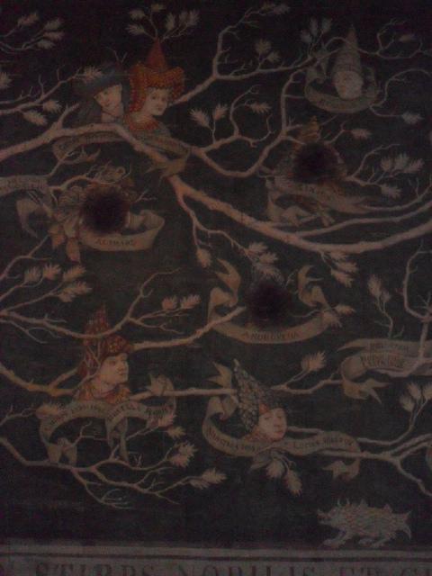 Tapisserie représentant l'arbre généalogique de la famille Black (extrait)